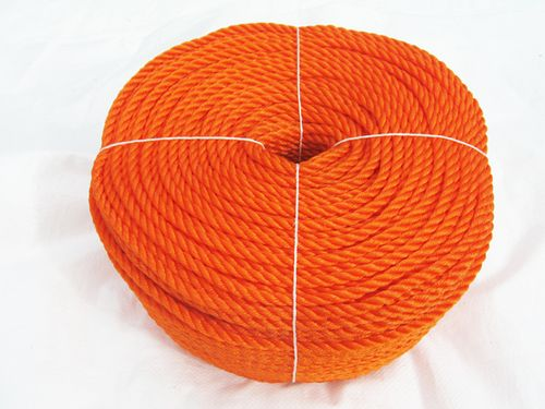 10MM x 220 Metre 3 Strand Polyethylene Orange PE Rope - Marine Boat Yacht